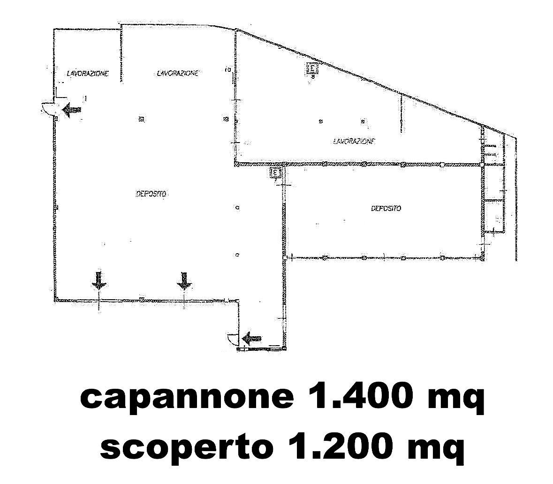 TORRE DEL MORO - CAPANNONE DI 1.400 MQ E SCOPERTO DI 1.200 MQ