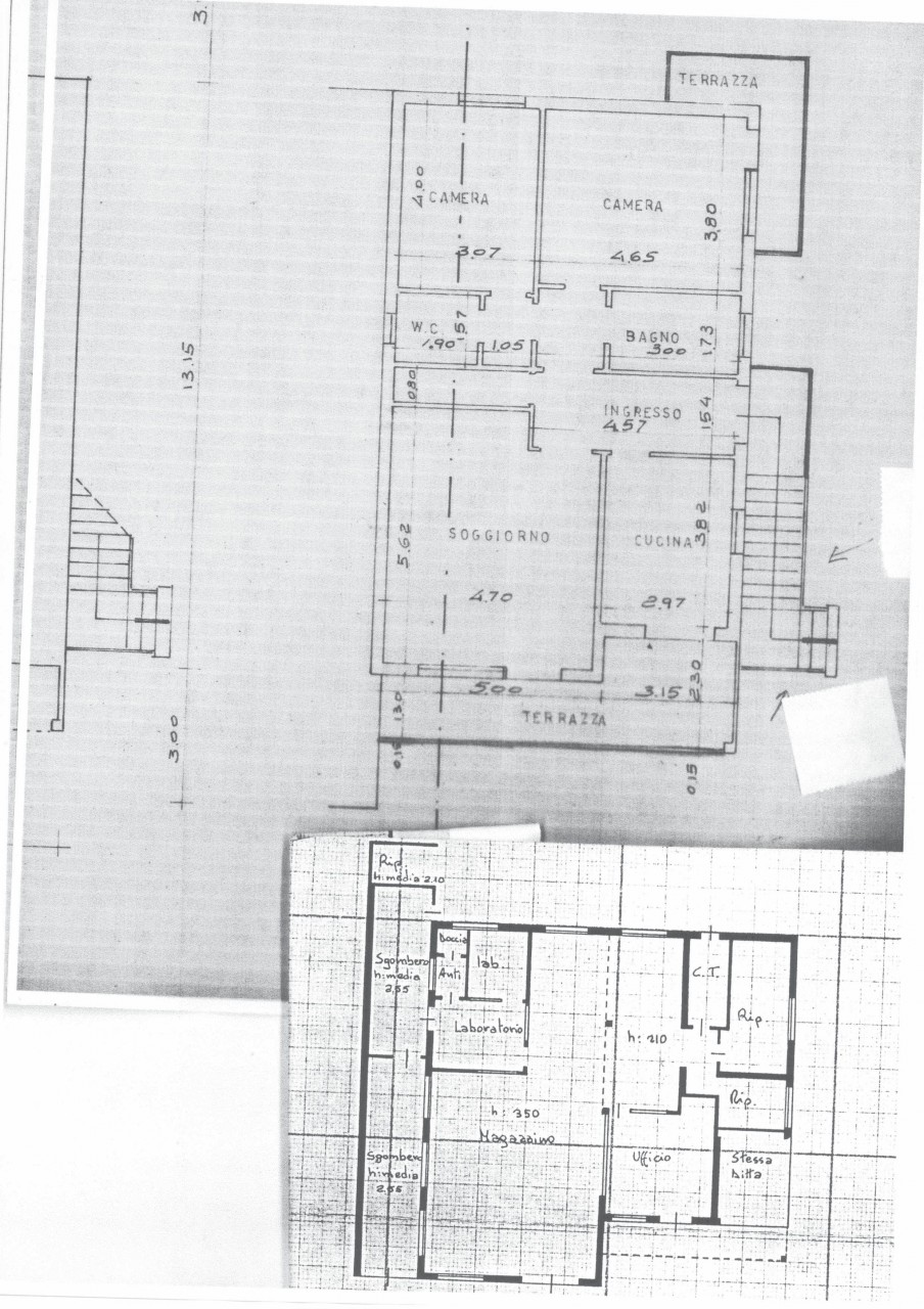 Casa singola con ampio magazzino e uffici