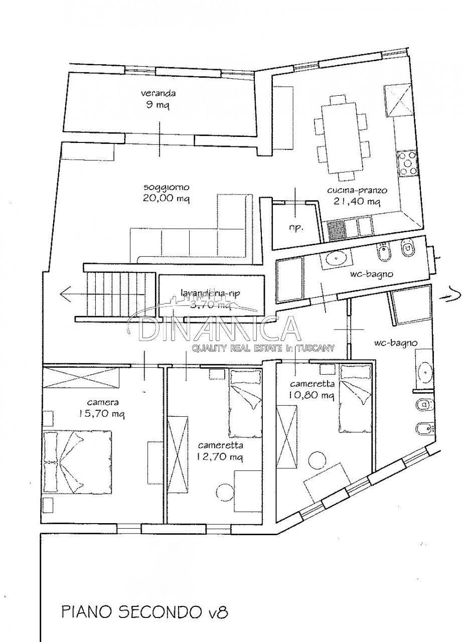 Attico completamente ristrutturato in vendita nel centro storico di Montopoli V/A