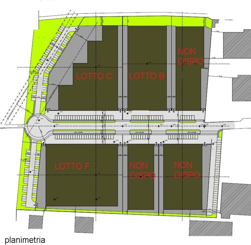 TRATTATIVA RISERVATA Terreno industriale costituito da 3 lotti adiacenti su cui è possibile costrui