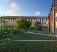 Complesso di nuova costruzione costituito da villette e appartamenti con giardino