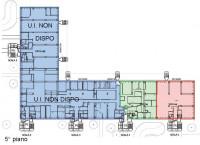 Immobile così suddiviso: mq 1.707 ca. al 3° piano, mq 695 ca. al 4° piano e mq 1.014 ca. al 5° piano