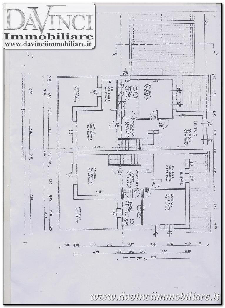 Fossò, porzione bifamiliare con giardino e terrazzo nuovo C.E A4
