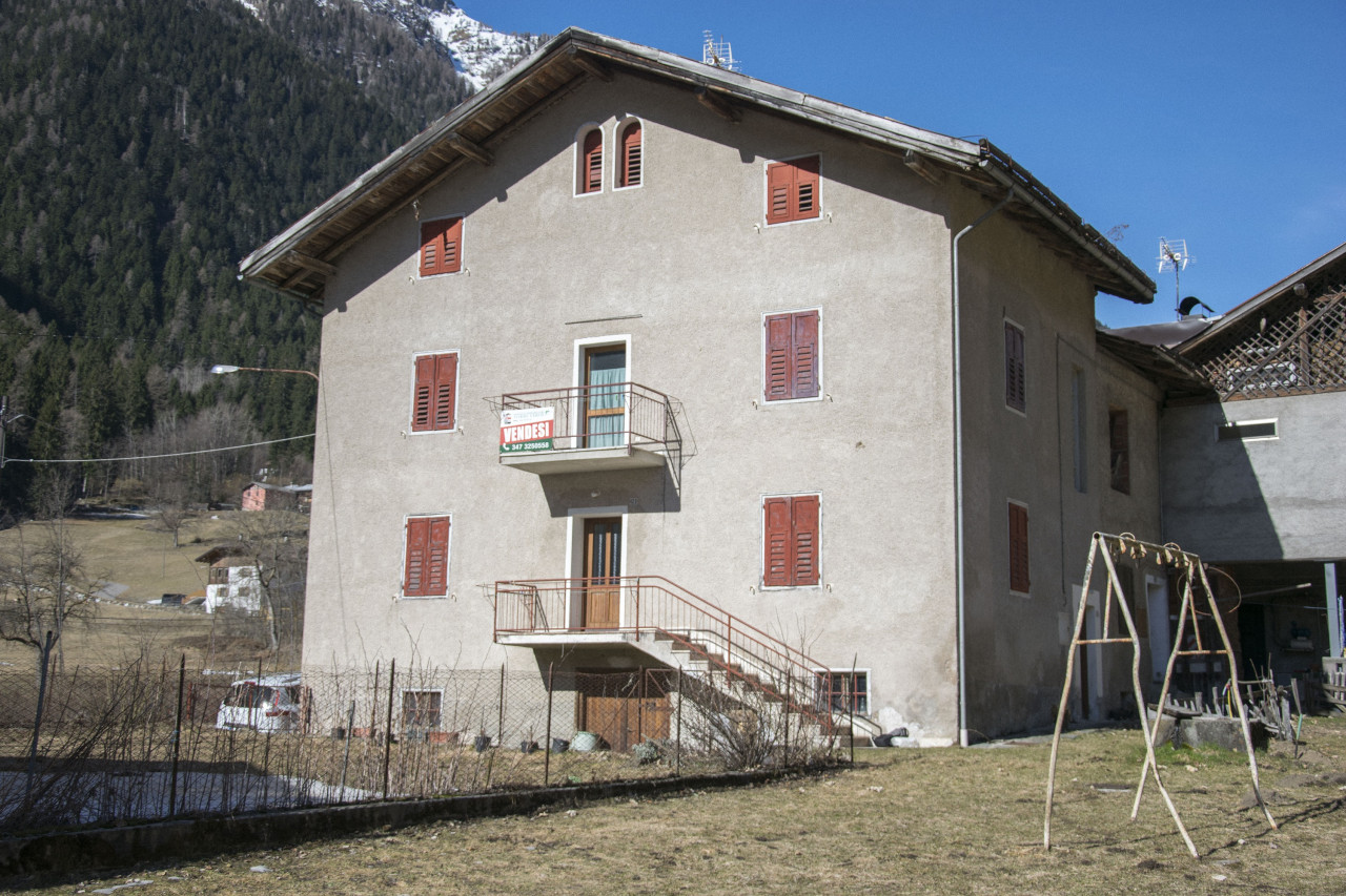 Casa indipendente con due appartamenti e terreno