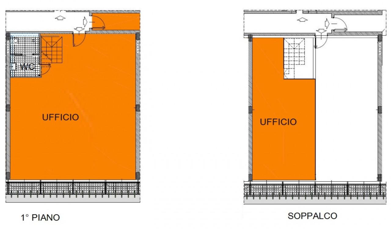 Immobile composto da mq. 116 ca. al 1° piano e da mq. 50 ca. al piano soppalcato (ai fini commercial