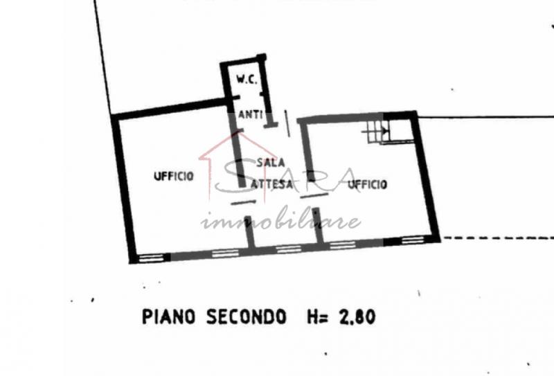 Ufficio con 2 vani e posto auto - https://images.gestionaleimmobiliare.it/foto/annunci/200616/2256523/800x800/010__planimetria_1.png