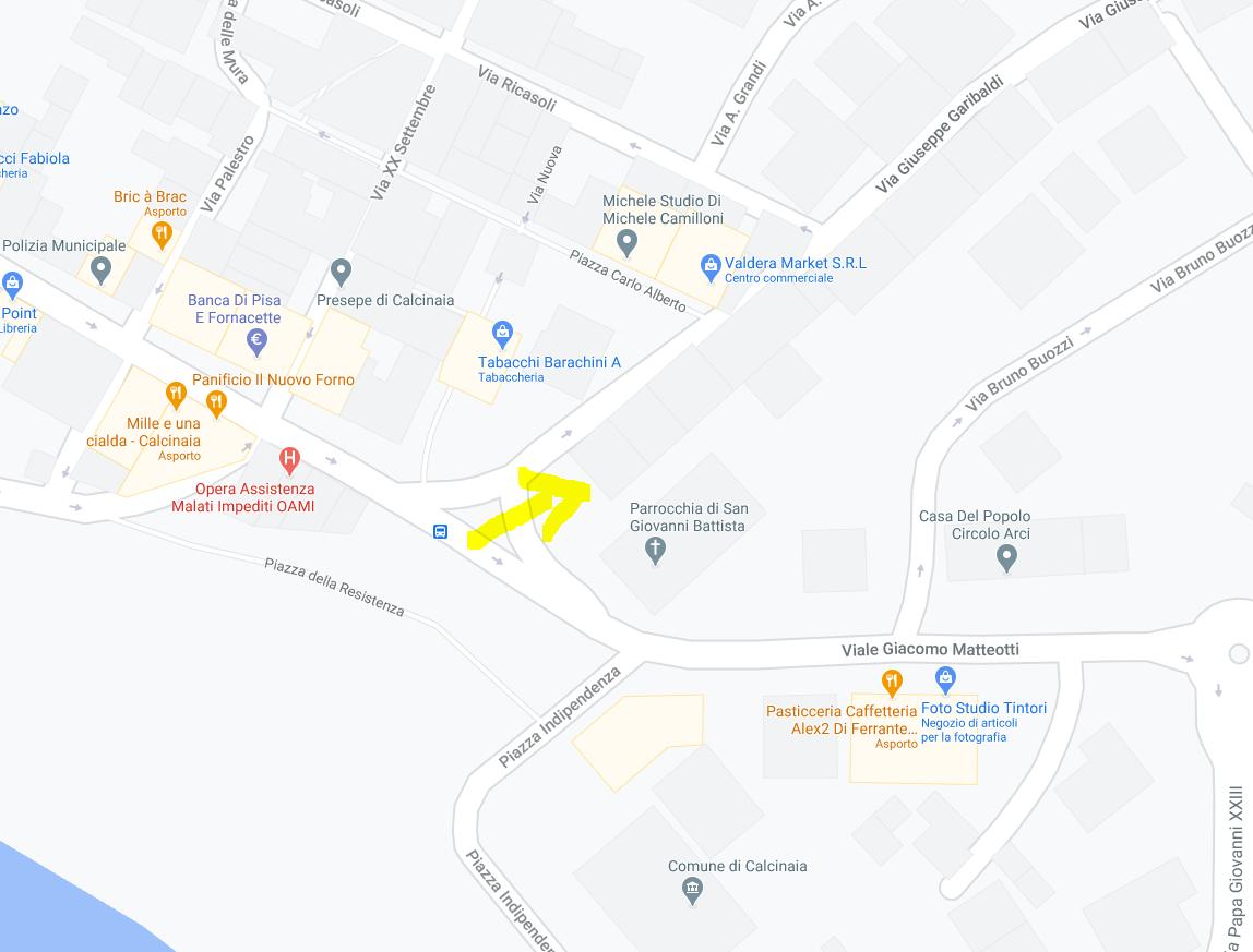 AMPIO APPARTAMENTO ALL'ASTA IN PIAZZA MANIN, CALCINAIA (PI)