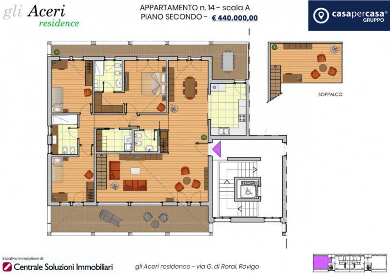 Attico / Mansarda in vendita a Rovigo, 5 locali, zona ro, prezzo € 440.000 | PortaleAgenzieImmobiliari.it