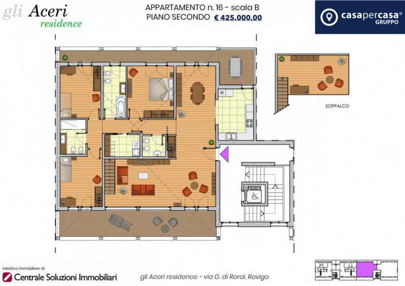 Attico / Mansarda in vendita a Rovigo, 5 locali, zona ro, prezzo € 425.000 | PortaleAgenzieImmobiliari.it