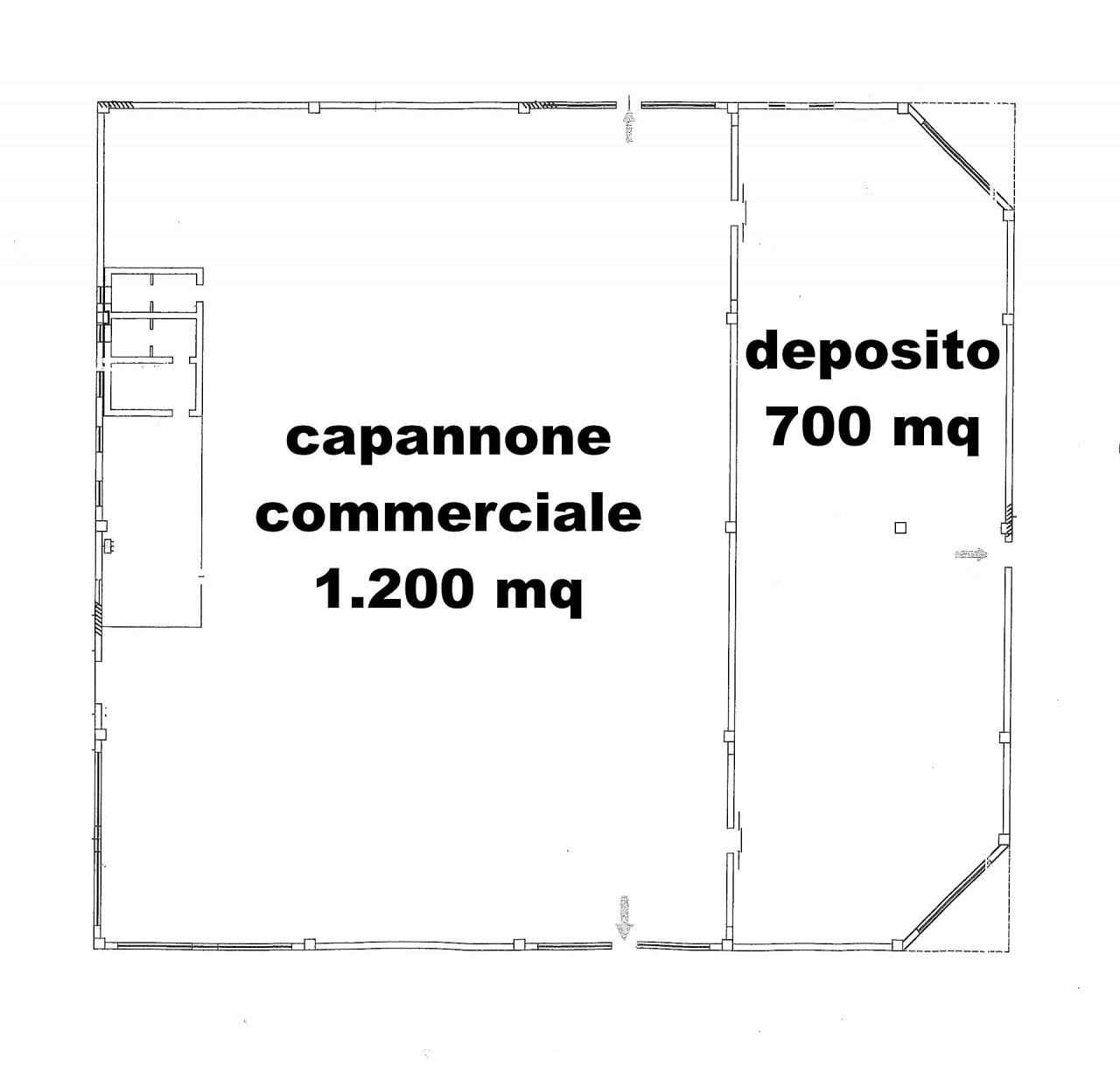 GAMBETTOLA - CAPANNONE COMMERCIALE INDIPENDENTE DI 1.700 MQ SU LOTTO DI 3.900 MQ