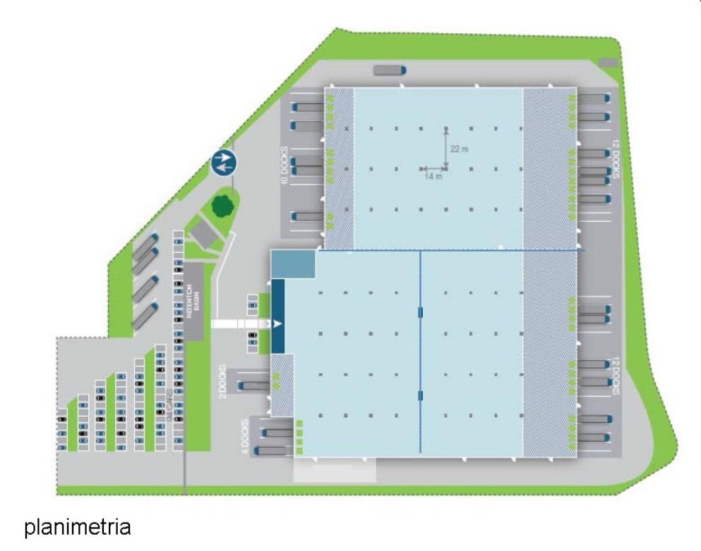 TRATTATIVA RISERVATA. Complesso logistico costruito nel 2000, composto da mq 16.638 ca. di magazzin