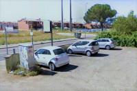 Posto auto (sub 8) in piazzale asfaltato