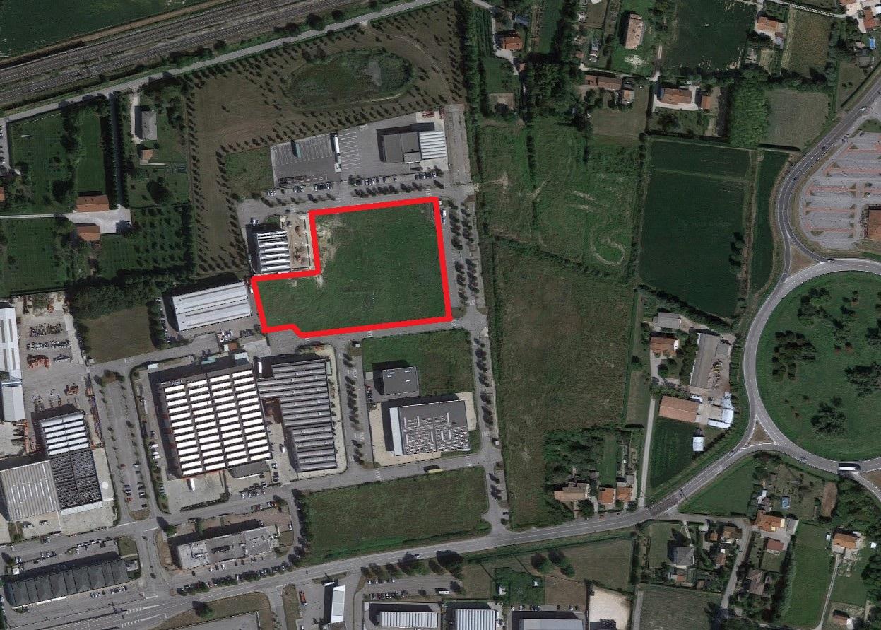 Terreno edificabile di 14.000 mq in zona industriale di Mirano