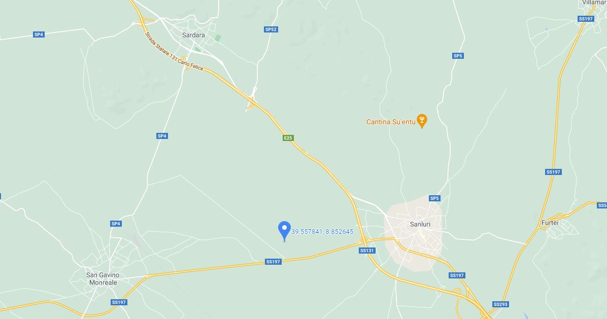 TERRENO AGRICOLO ALL'ASTA IN LOCALITA' PITZULOIA SAN GAVINO MONREALE (SU)